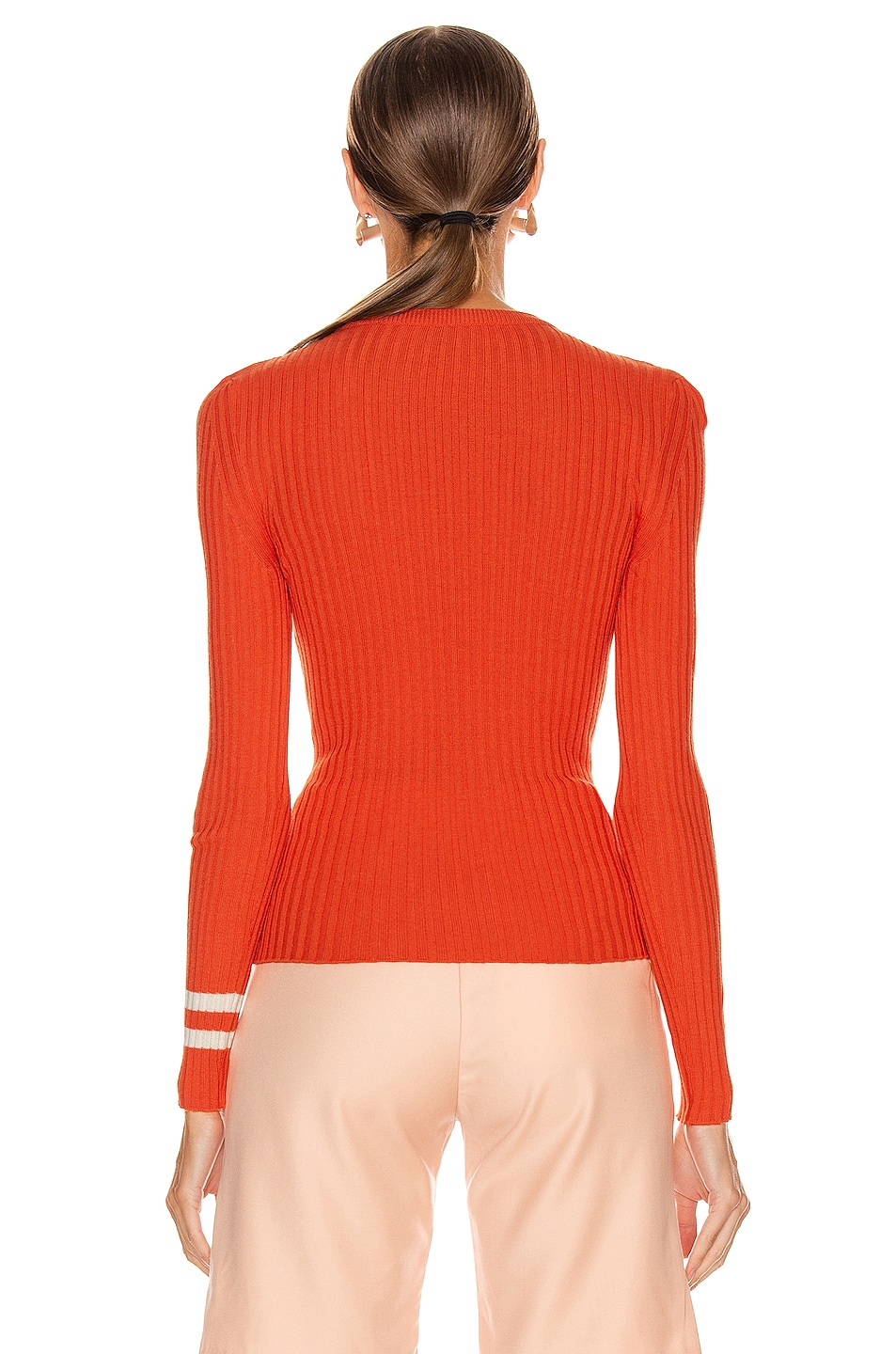 Image 3 of Maggie Marilyn Nearly There Sweater in Orange & White