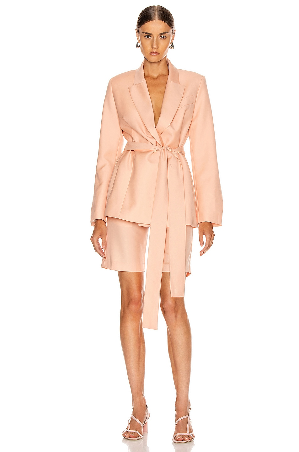 Image 1 of Maggie Marilyn Just Getting Started Blazer in Peach