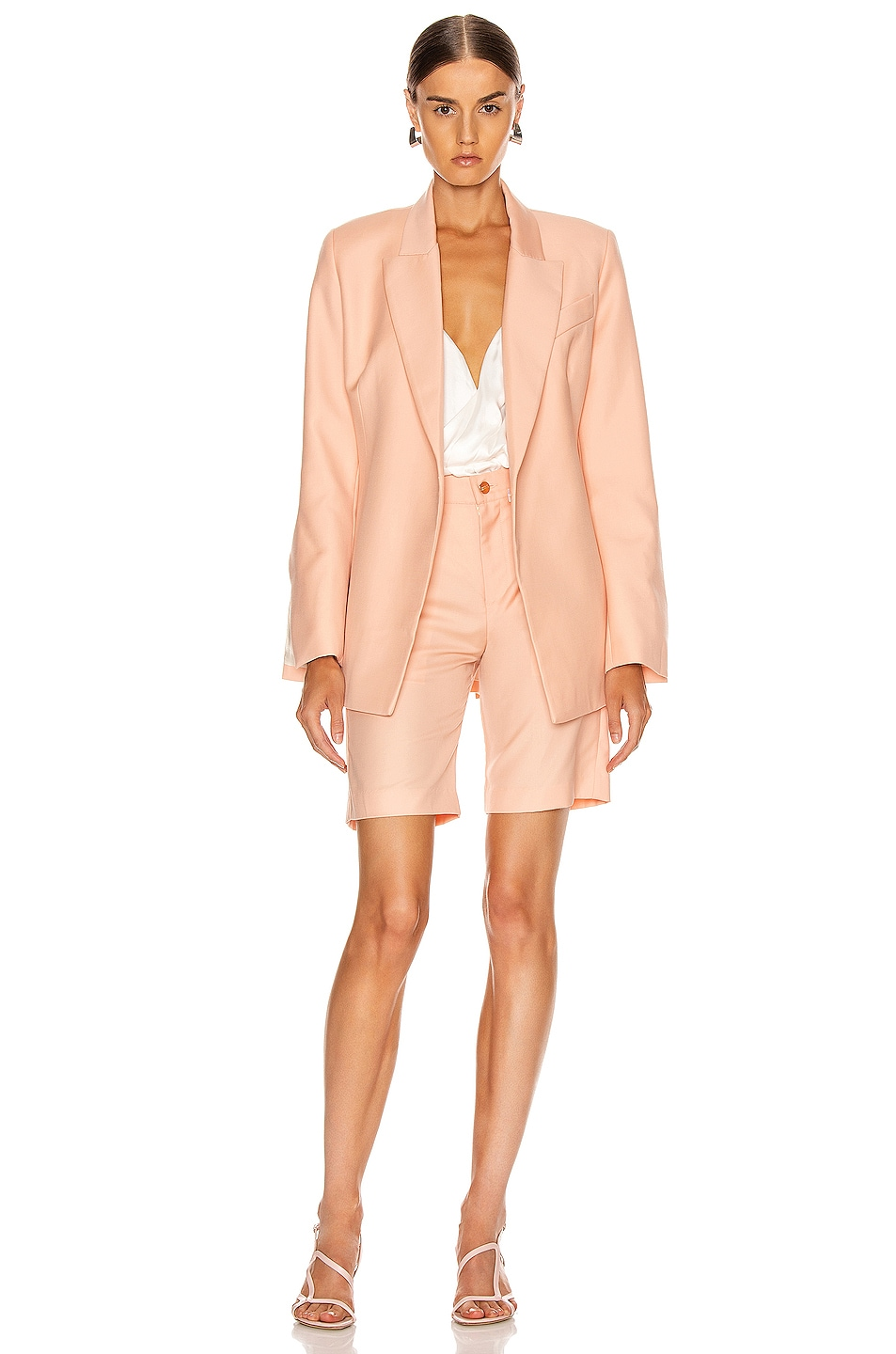 Image 2 of Maggie Marilyn Just Getting Started Blazer in Peach