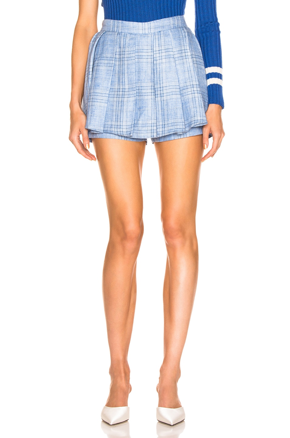 Image 1 of Maggie Marilyn Say You'll Never Let me Go Blue Skort in Baby Blue Check