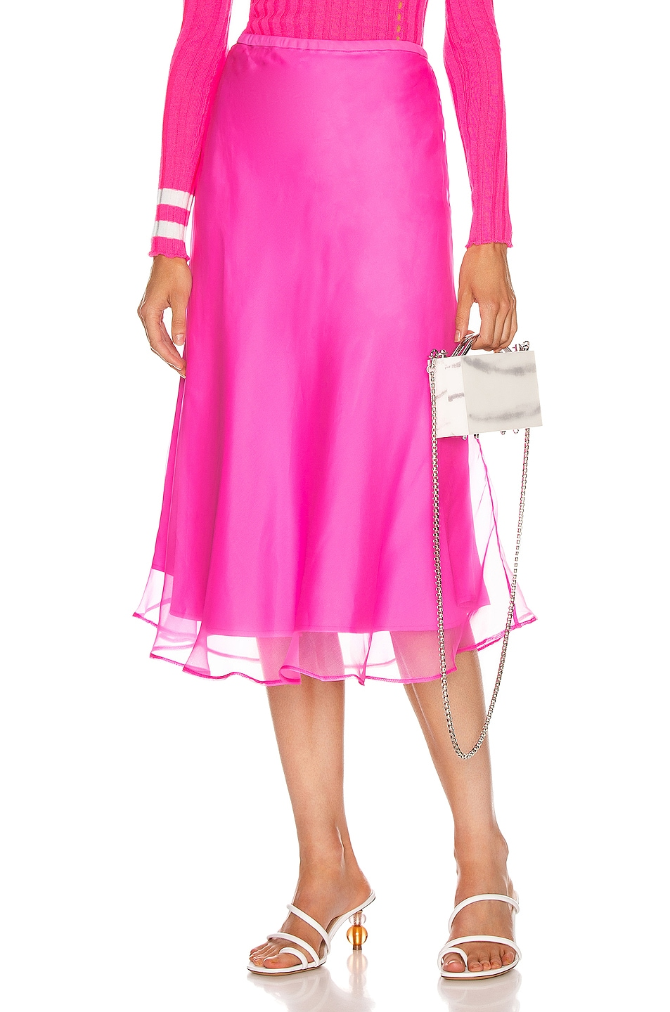 Image 1 of Maggie Marilyn Because We Can Midi Skirt in Fluro Pink