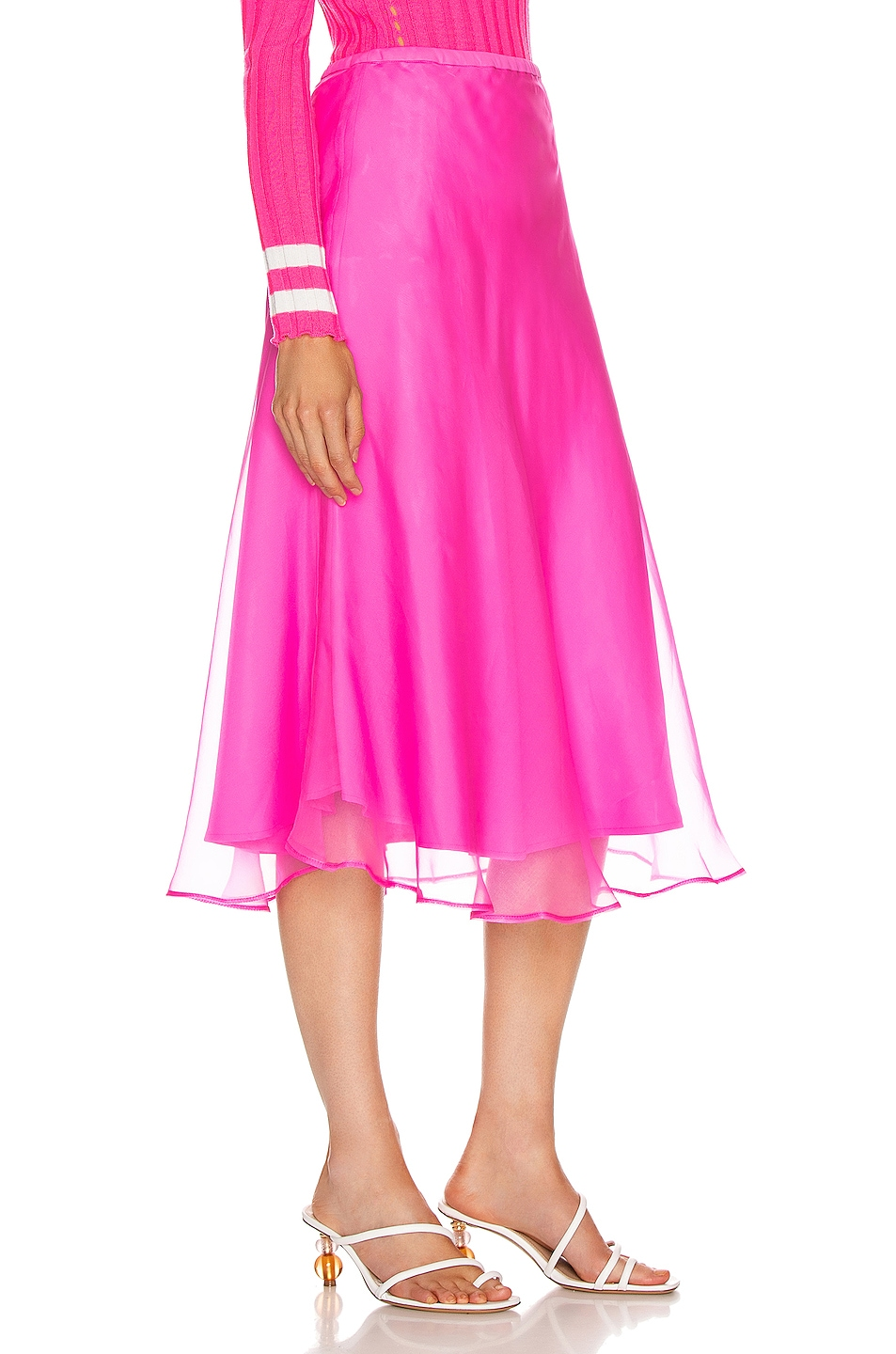 Image 2 of Maggie Marilyn Because We Can Midi Skirt in Fluro Pink