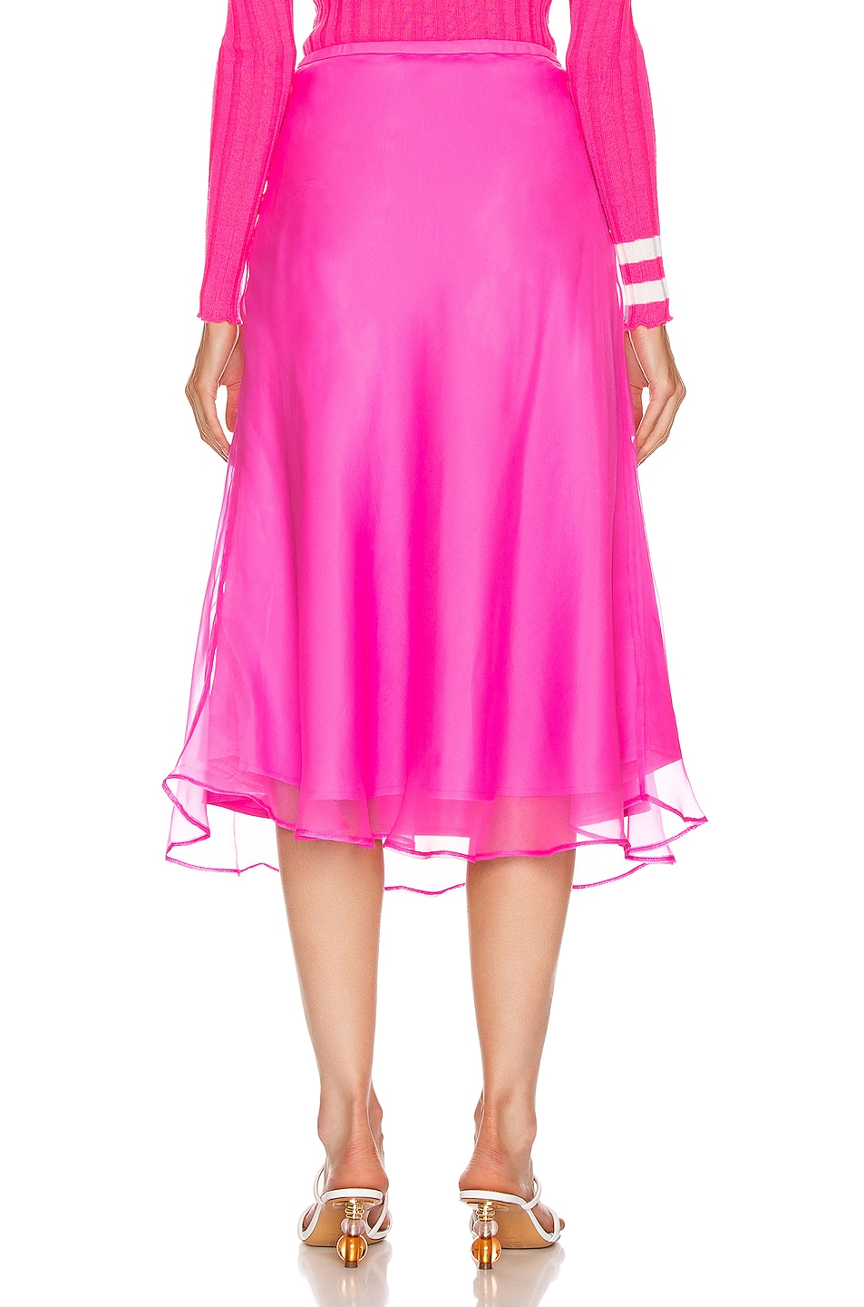 Image 3 of Maggie Marilyn Because We Can Midi Skirt in Fluro Pink
