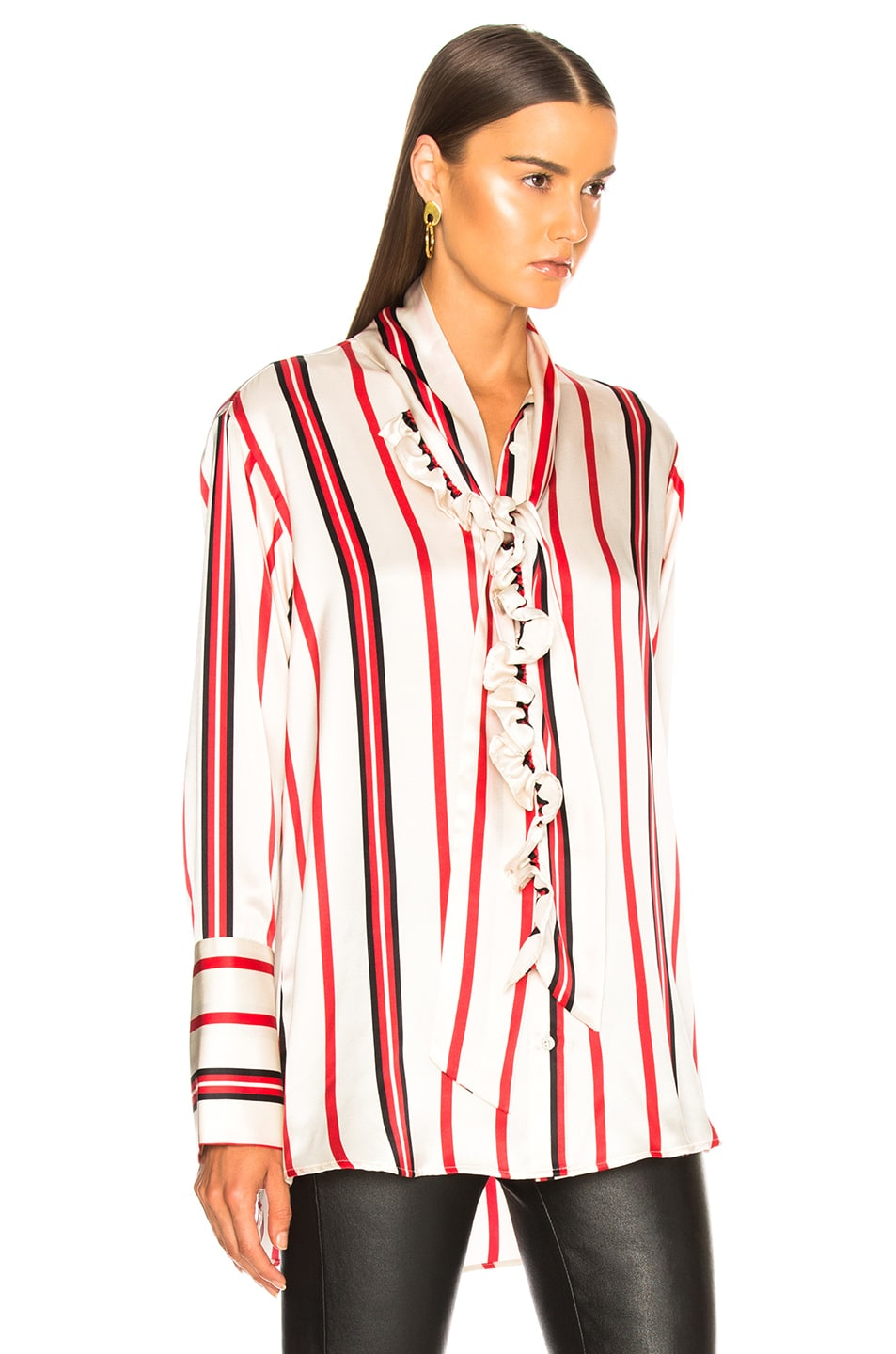 Image 3 of Maggie Marilyn Let's Be Frank Shirt in Frankie Stripe