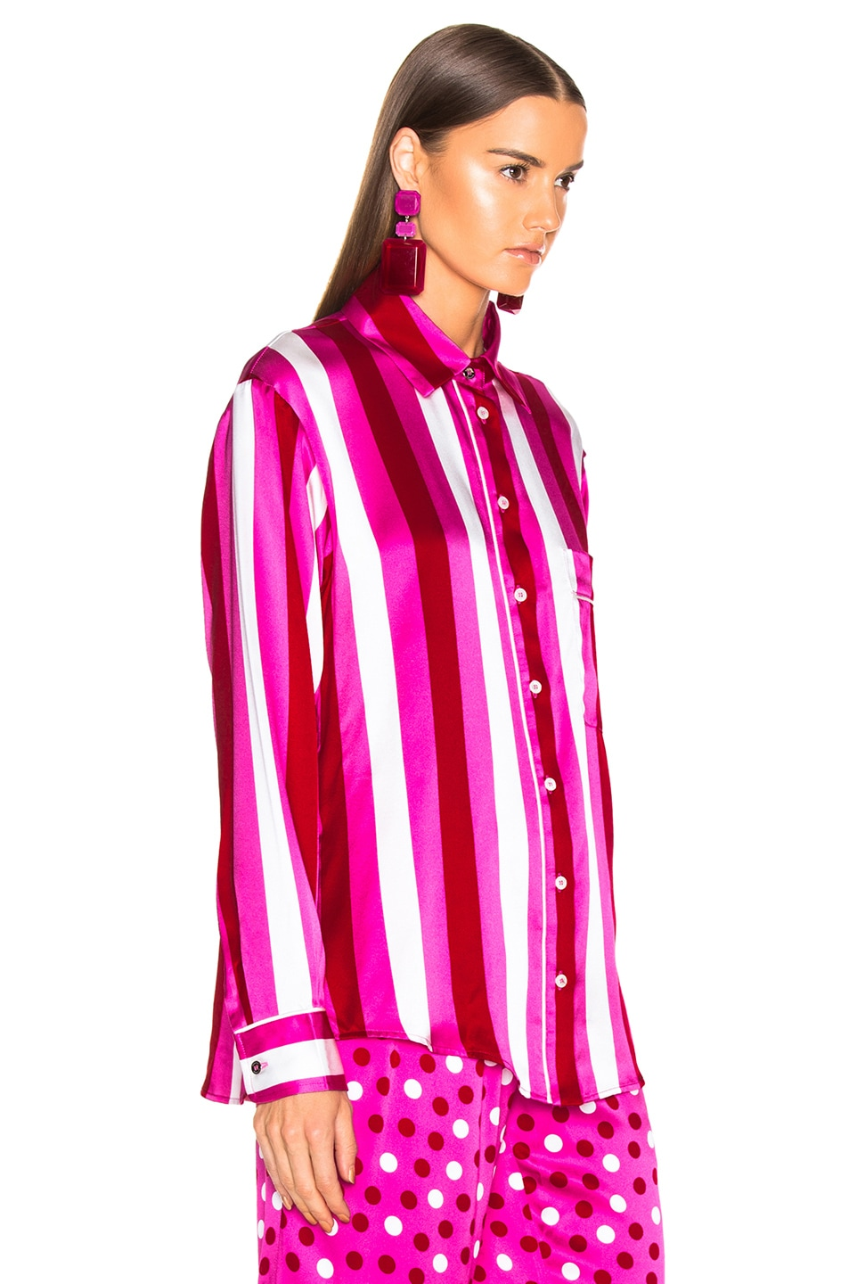 Image 2 of Maggie Marilyn Hand In My Hand Top in Pink, White & Red Stripe