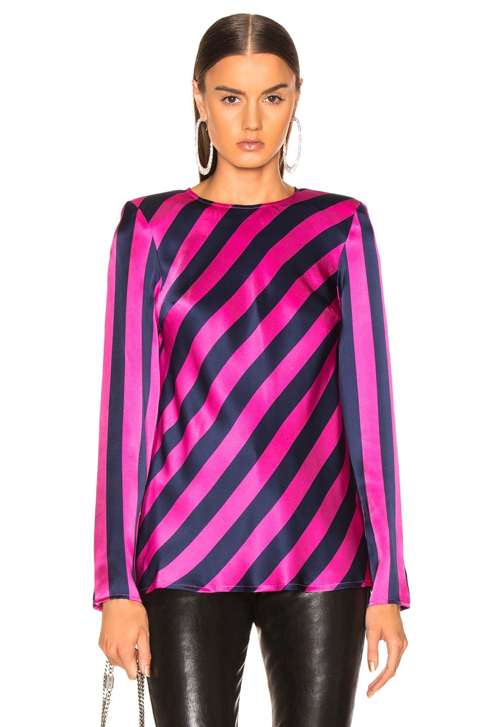 Image 2 of Maggie Marilyn I Wish You Well Top in Pink & Navy Stripe