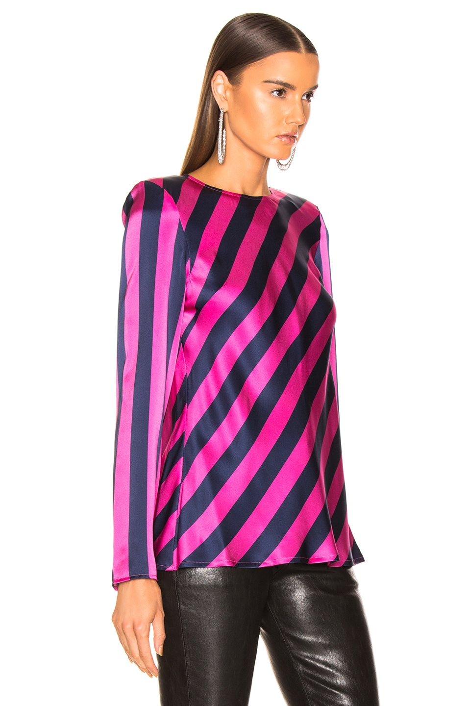 Image 3 of Maggie Marilyn I Wish You Well Top in Pink & Navy Stripe