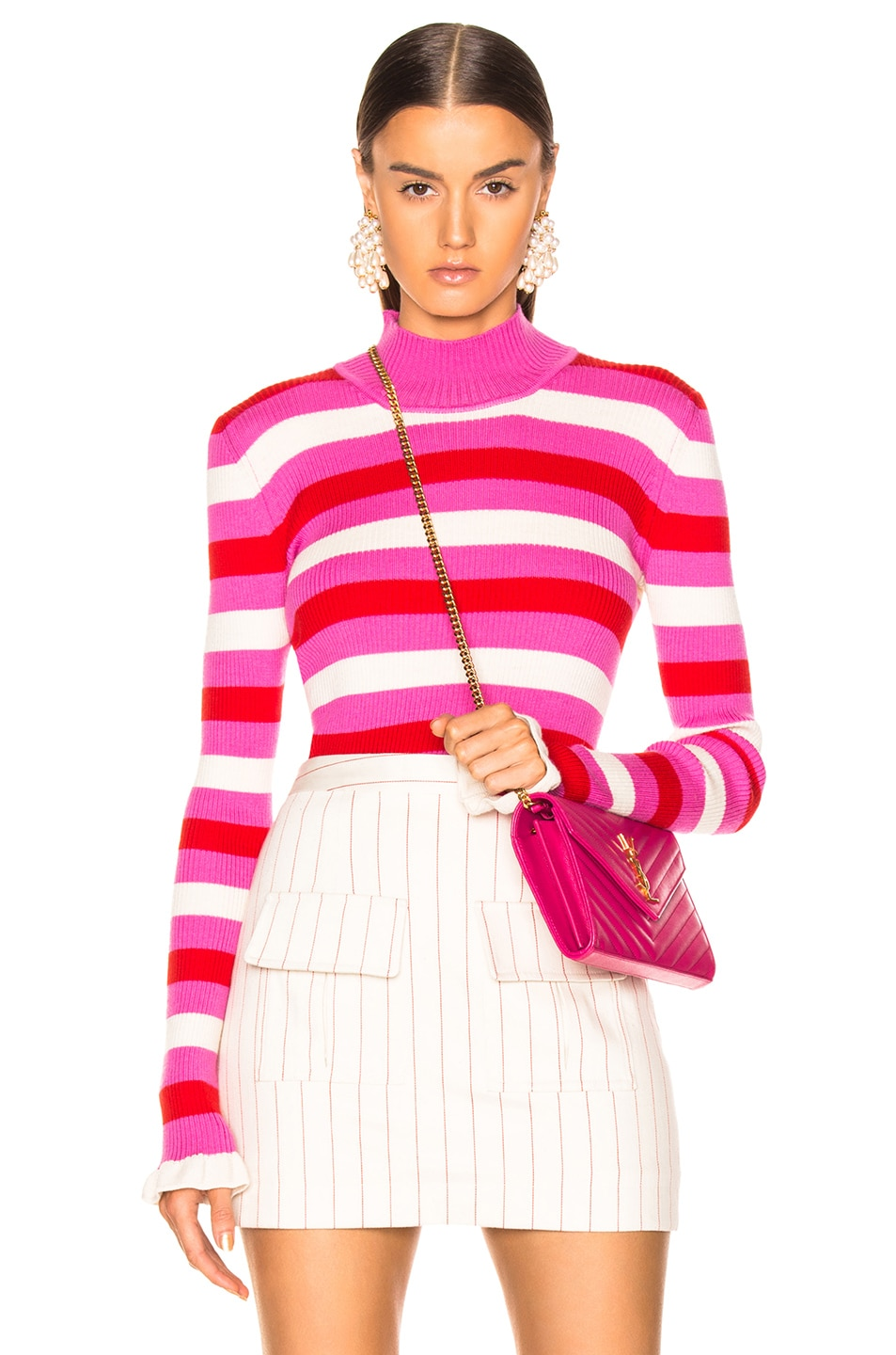 Image 1 of Maggie Marilyn You Make Me Happy Top in Pink, White, Red Stripe