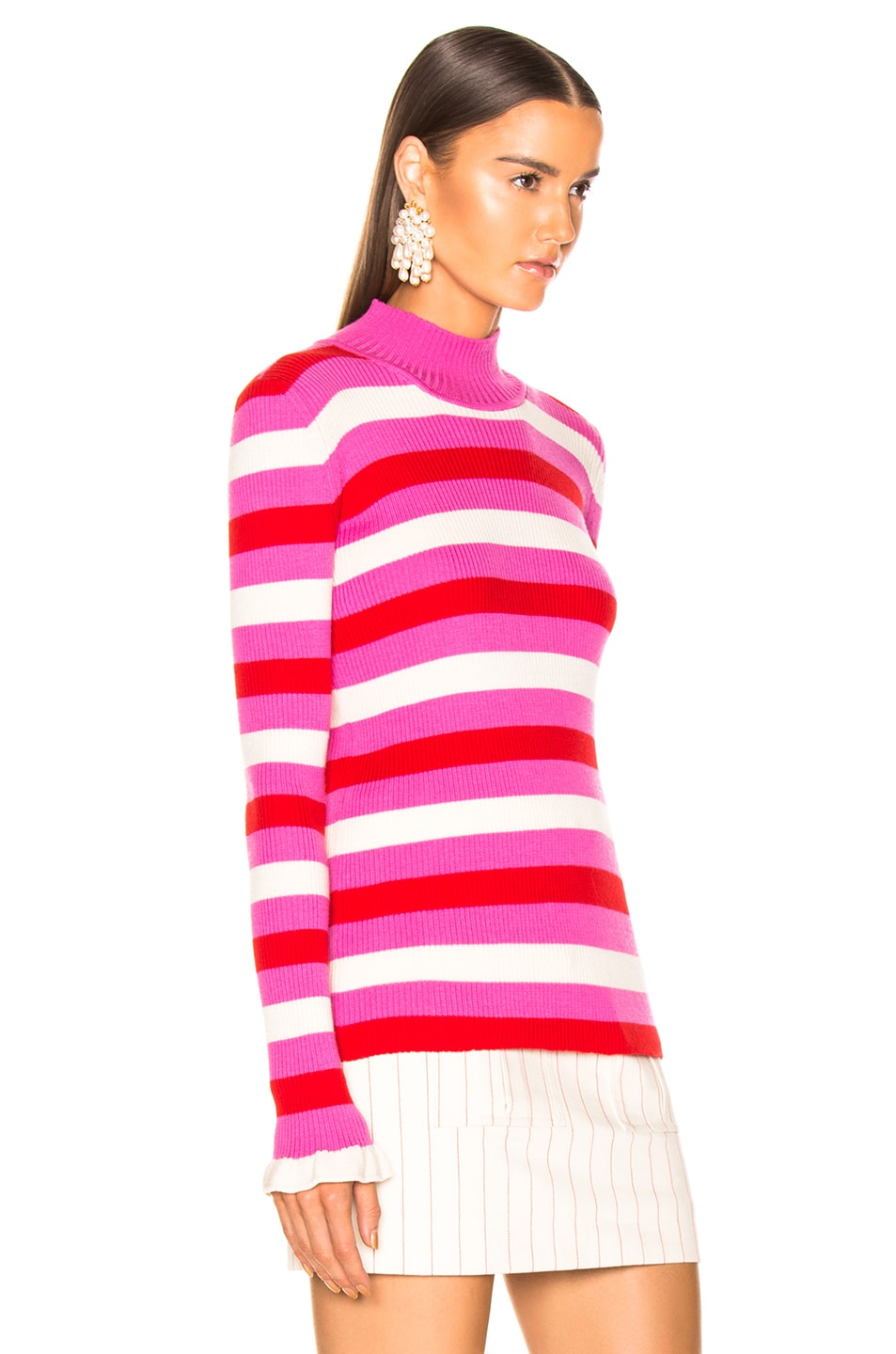 Image 2 of Maggie Marilyn You Make Me Happy Top in Pink, White, Red Stripe