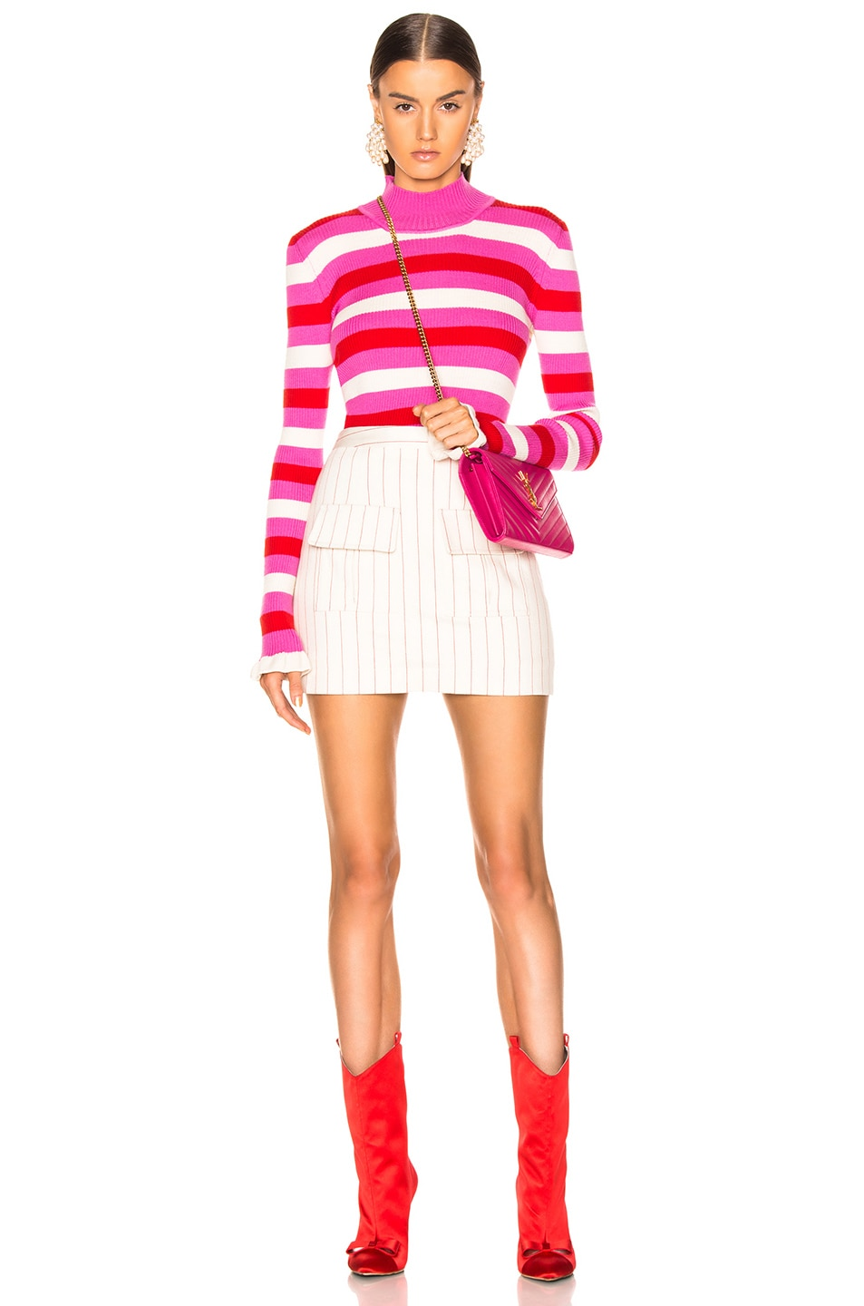 Image 4 of Maggie Marilyn You Make Me Happy Top in Pink, White, Red Stripe
