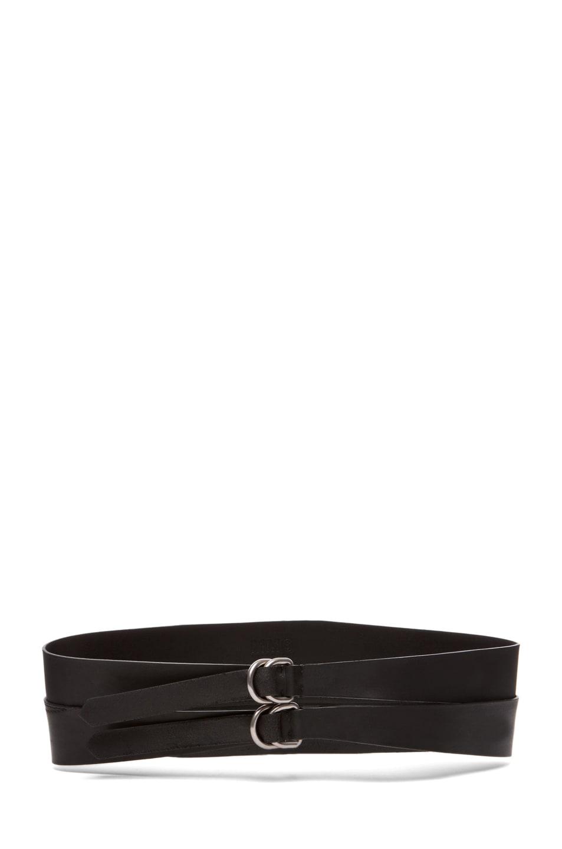 Image 1 of MM6 Maison Margiela Leather Belt in Black