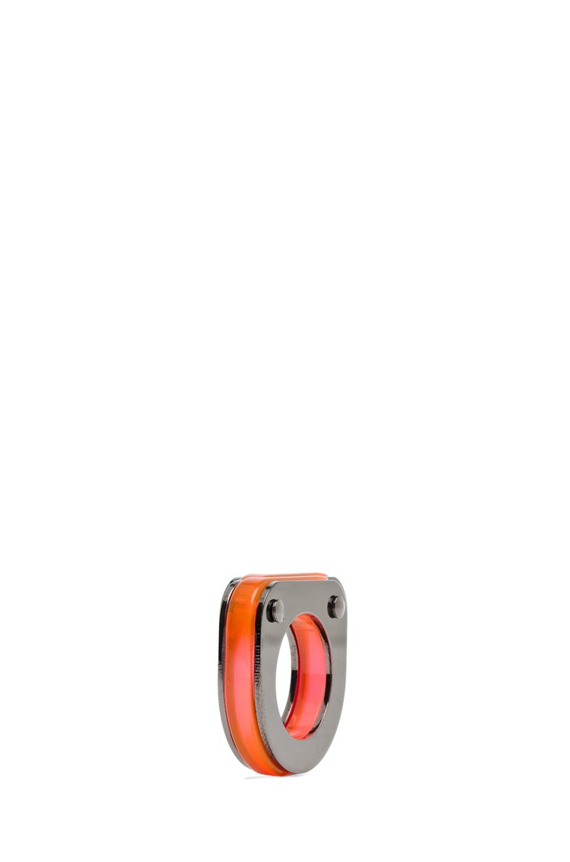 Image 1 of MM6 Maison Margiela Ring in Neon Orange Plexi