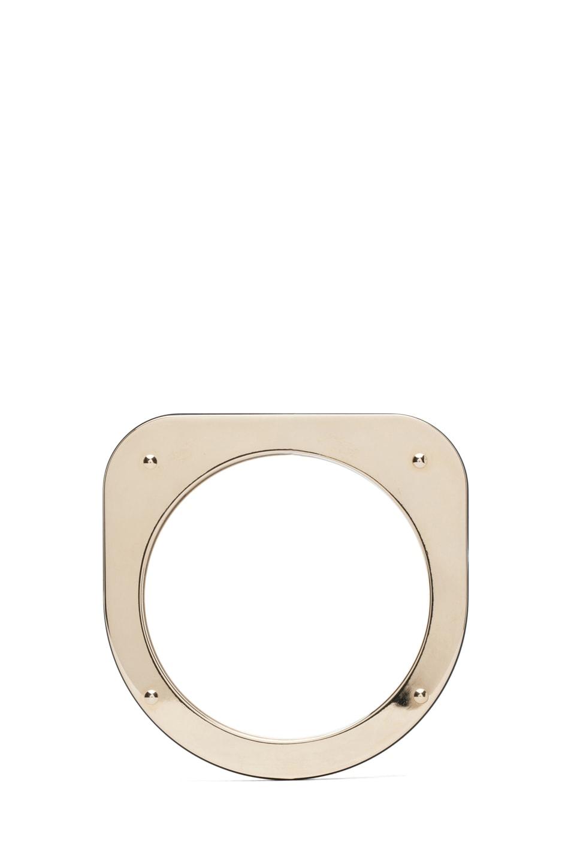 Image 1 of MM6 Maison Margiela Flat Bracelet in Tar Plexi
