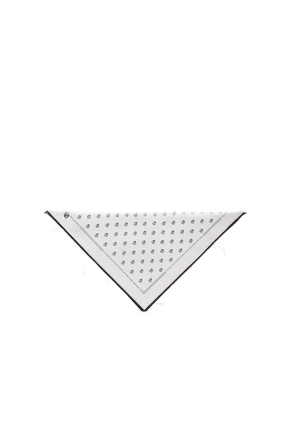 Image 1 of MM6 Maison Margiela Triangle Clutch in White Print