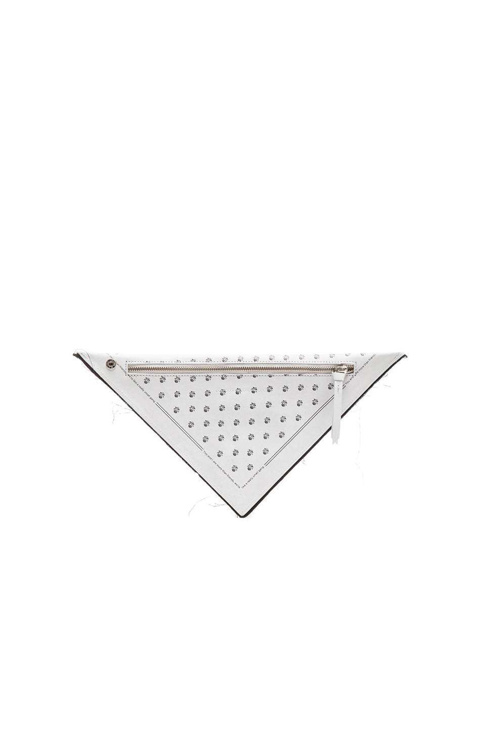 Image 3 of MM6 Maison Margiela Triangle Clutch in White Print