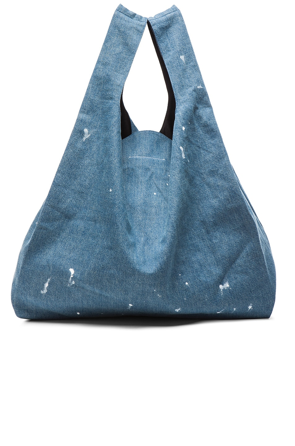 Image 3 of MM6 Maison Margiela Denim Tote in Indigo