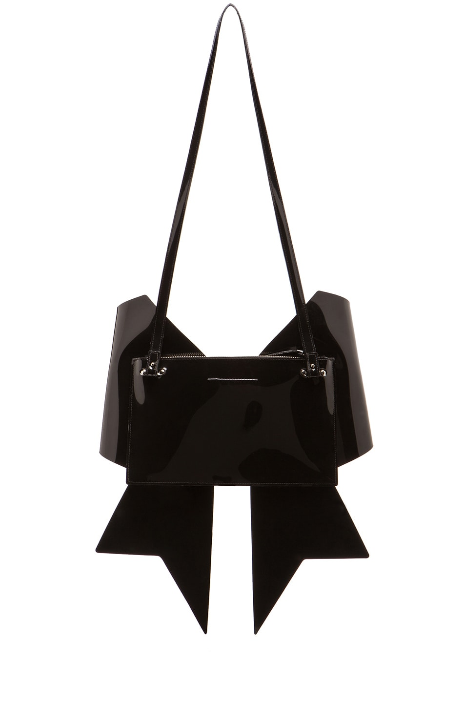 Image 2 of MM6 Maison Margiela Bow Clutch in Black