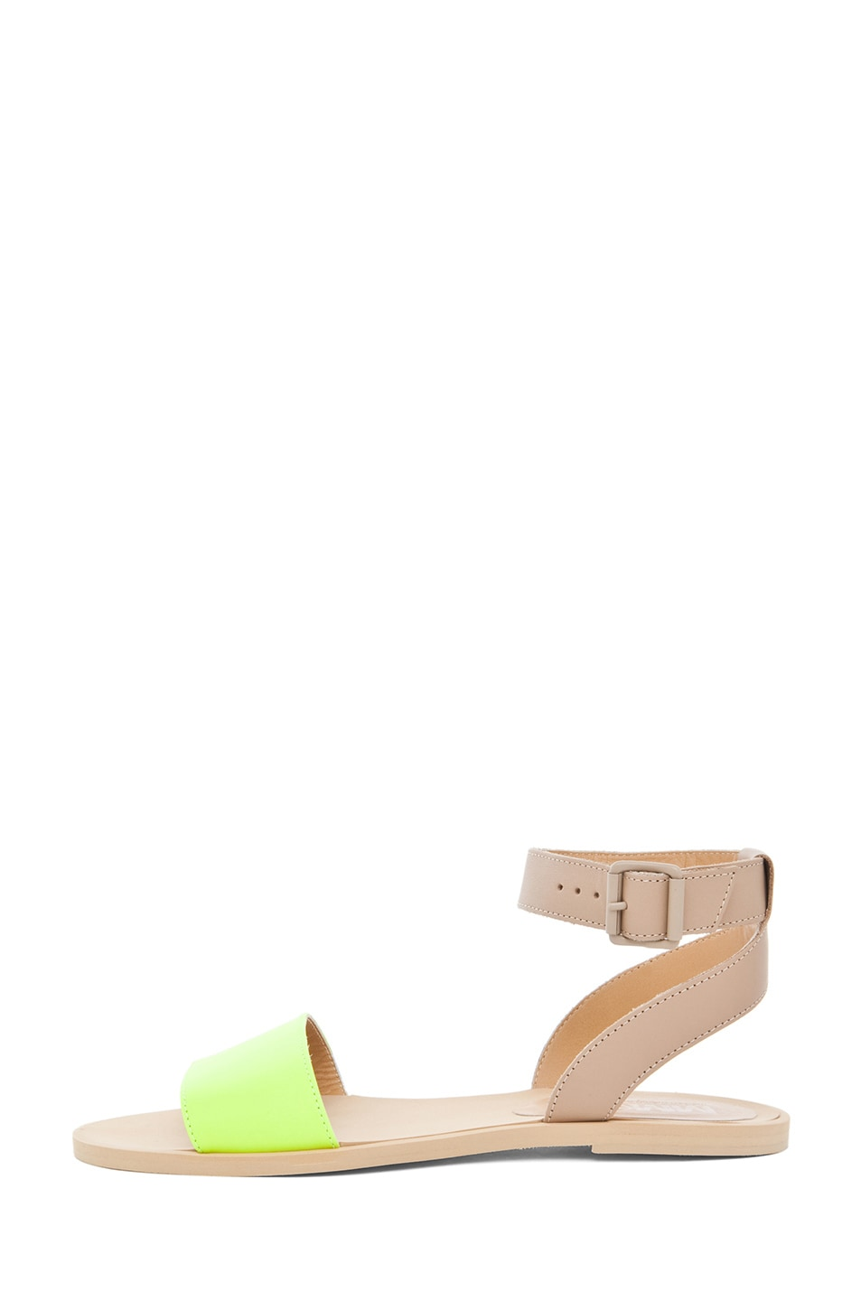 Image 1 of MM6 Maison Margiela Ankle Strap Sandal in Yellow & Beige
