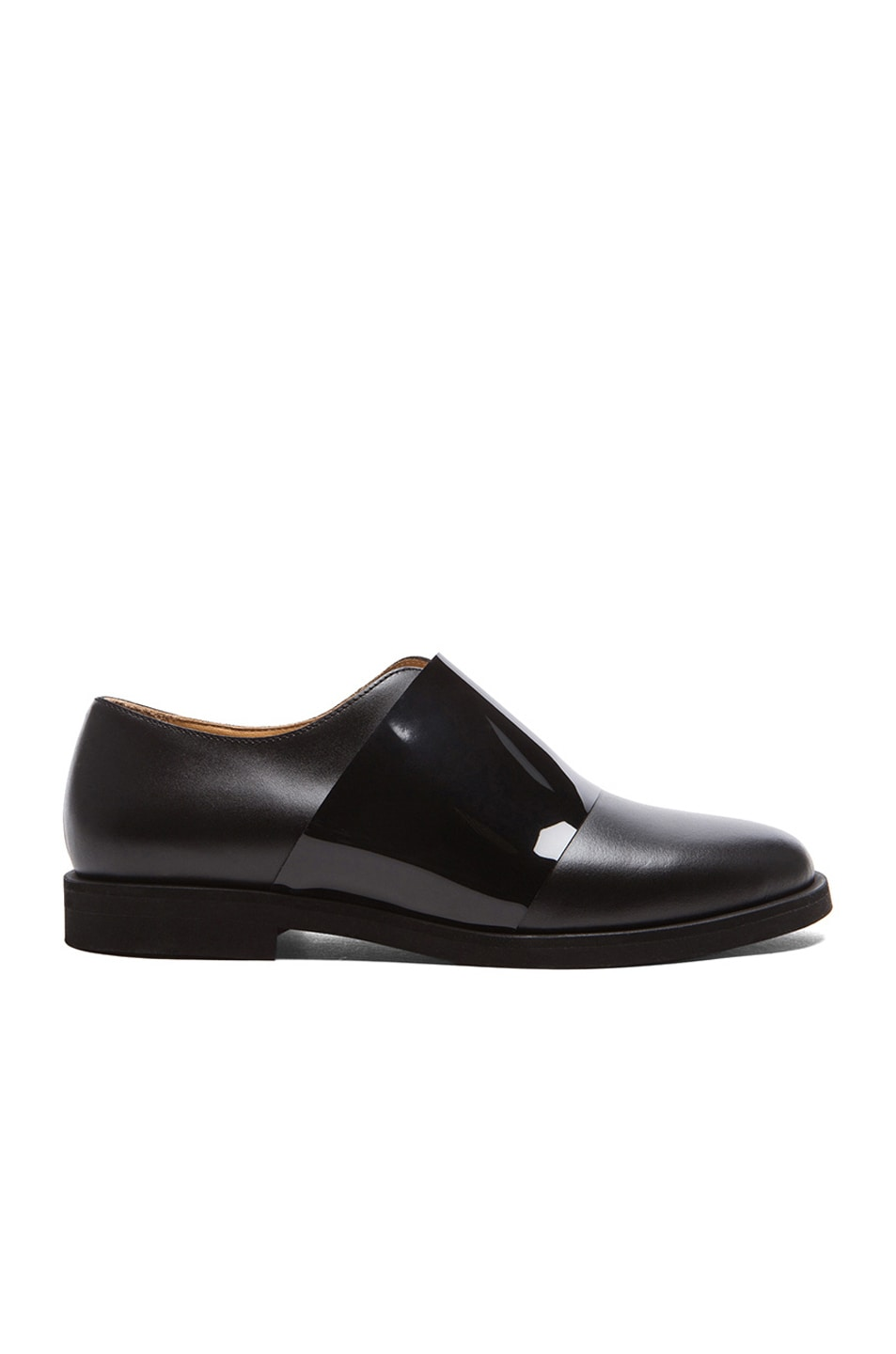 Image 1 of MM6 Maison Margiela Leather Oxfords in Black