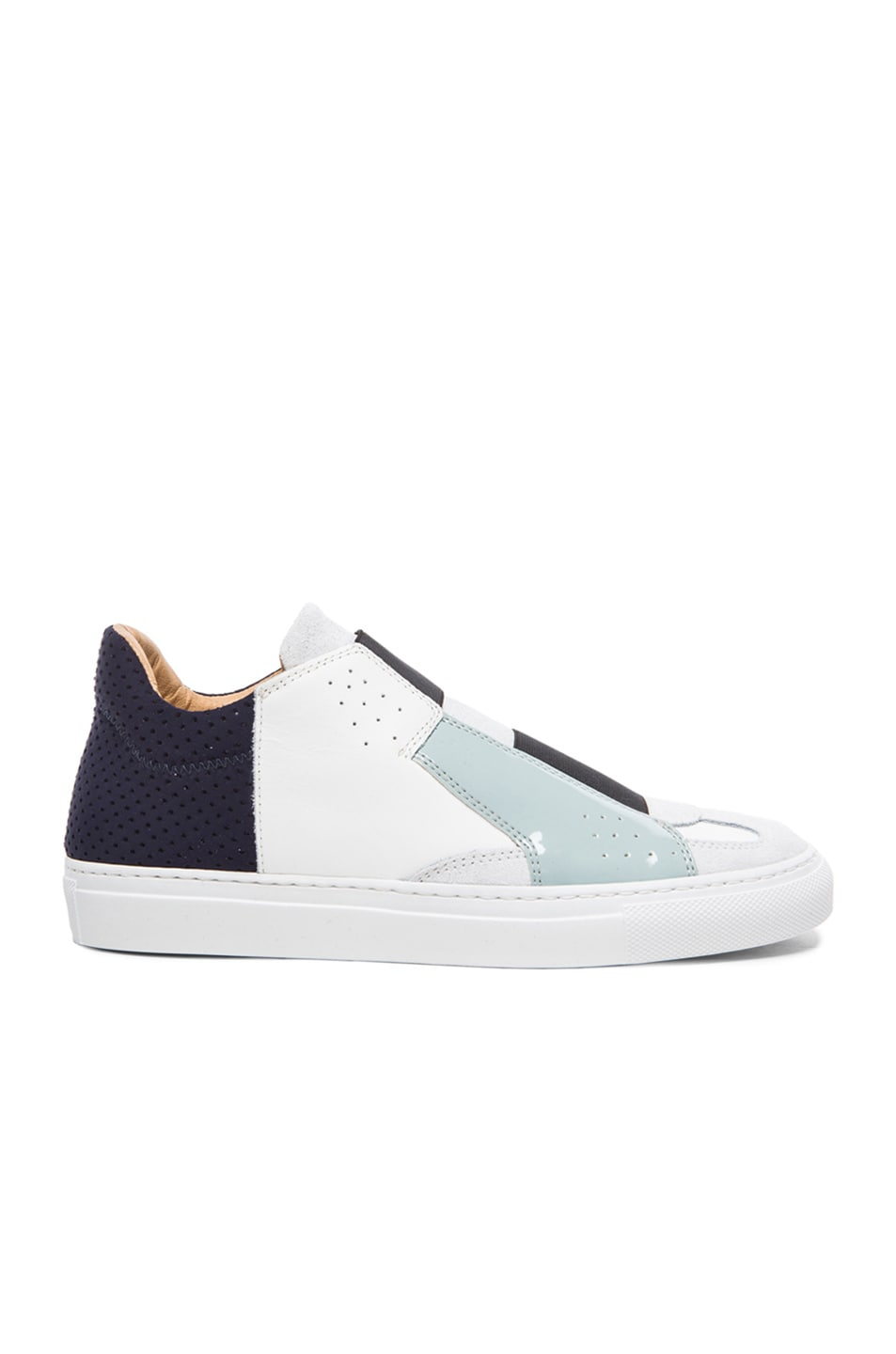 Image 1 of MM6 Maison Margiela Low Top Leather Sneakers in White Multi