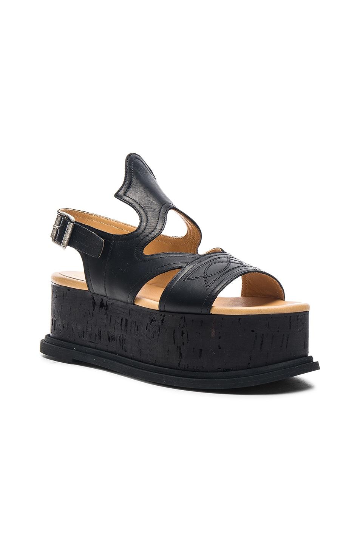 d8d385d1536 Image 2 of MM6 Maison Margiela Platform Leather Sandals in Black