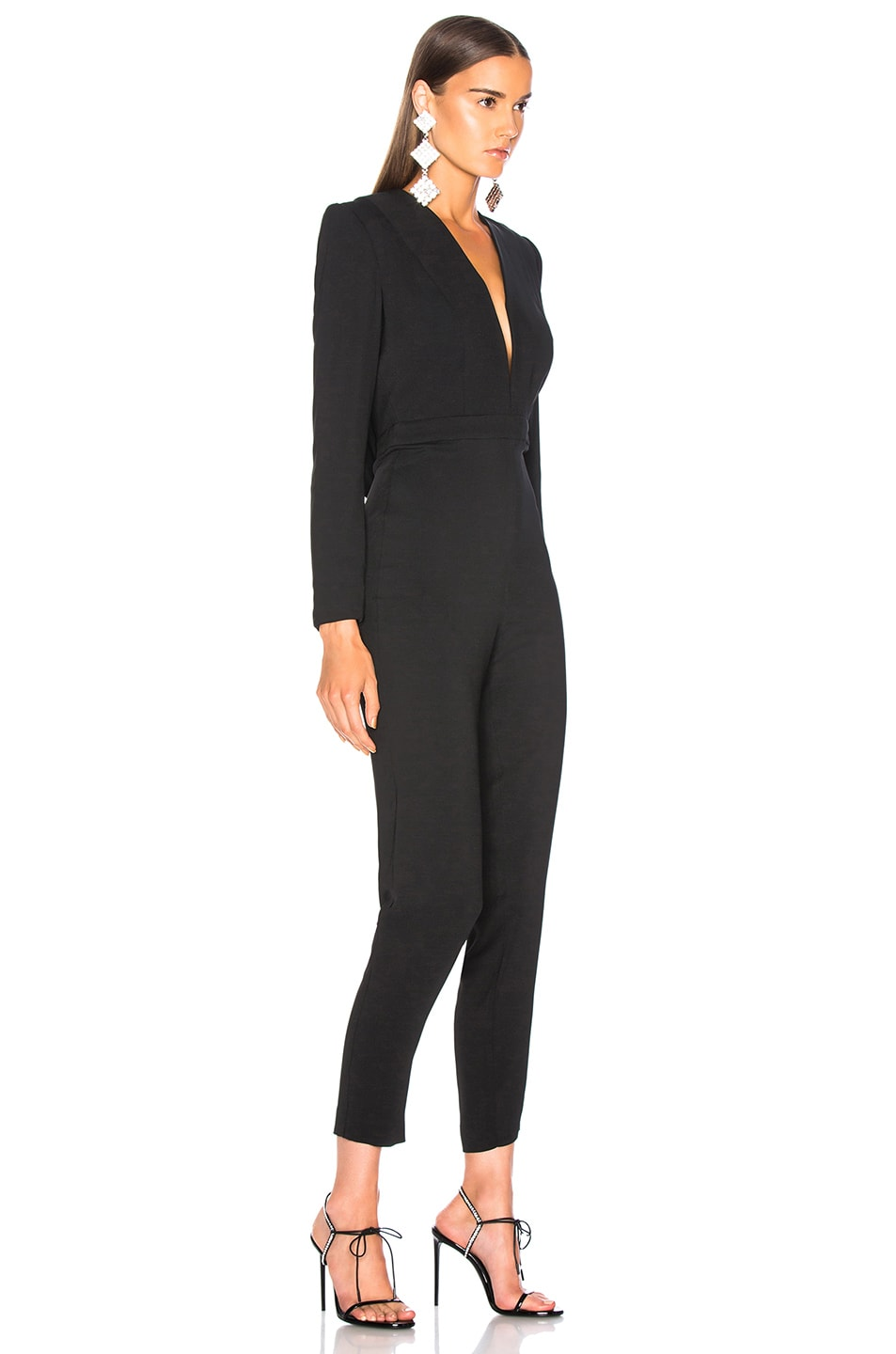 Image 2 of Michelle Mason Jumpsuit With Draped Back in Black