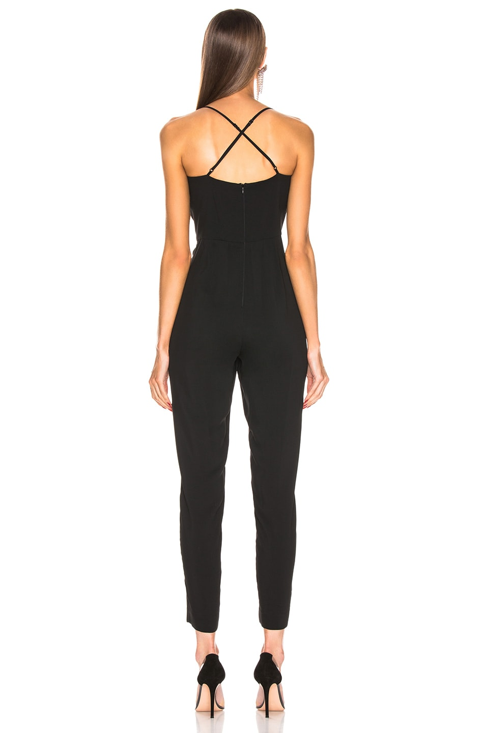 Image 3 of Michelle Mason Bustier Jumpsuit in Black