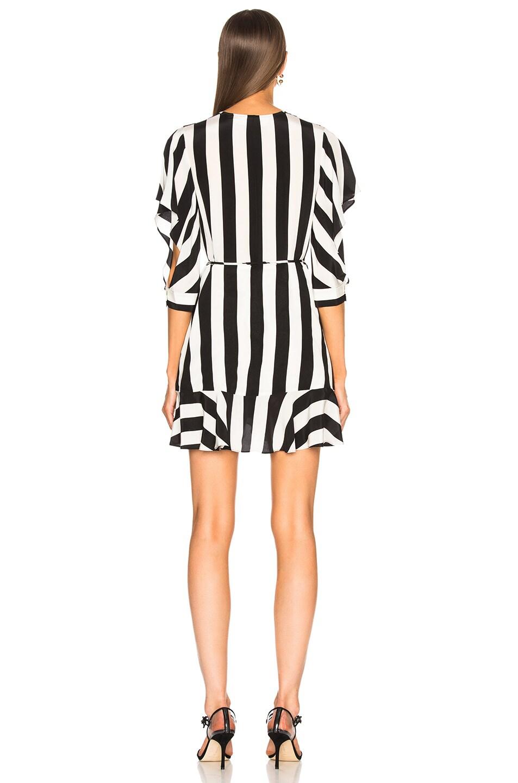 Image 4 of Michelle Mason Flutter Wrap Dress in Stripe