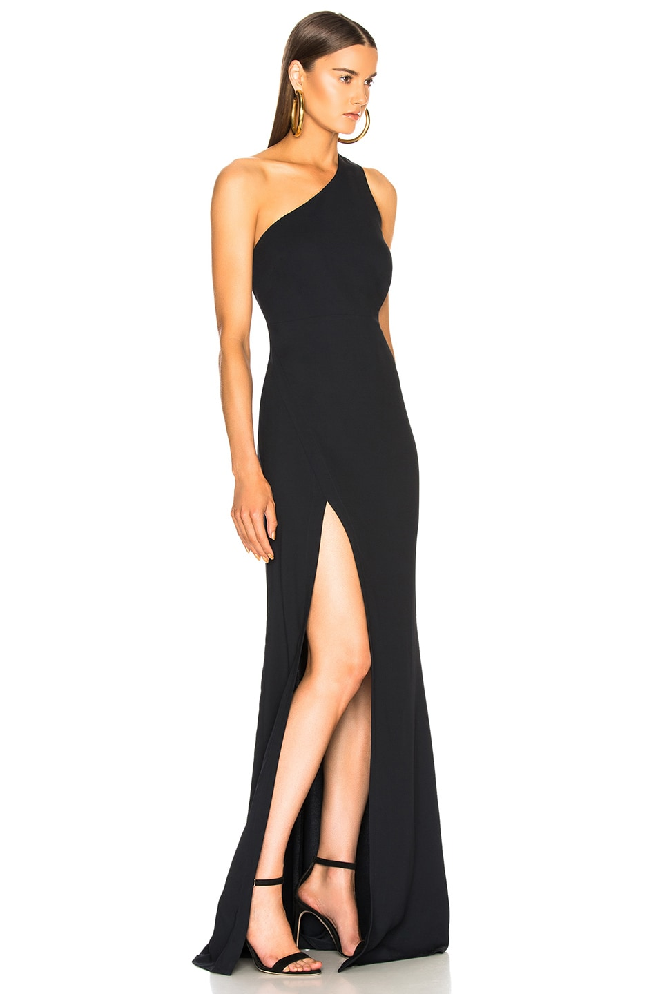 Image 2 of Michelle Mason Back Strap Gown in Midnight