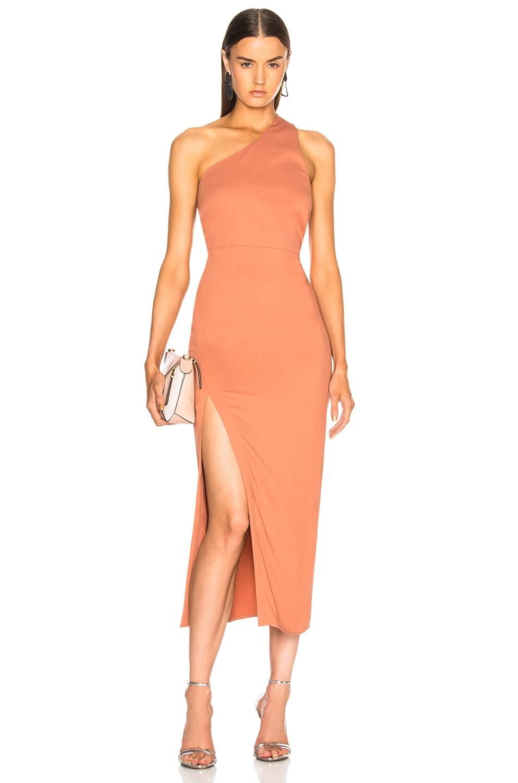 6911b450bc81e Image 1 of Michelle Mason Back Strap Dress in Desert Rose