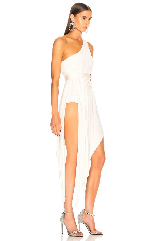 Image 2 of Michelle Mason for FWRD Bodysuit Dress in Ivory