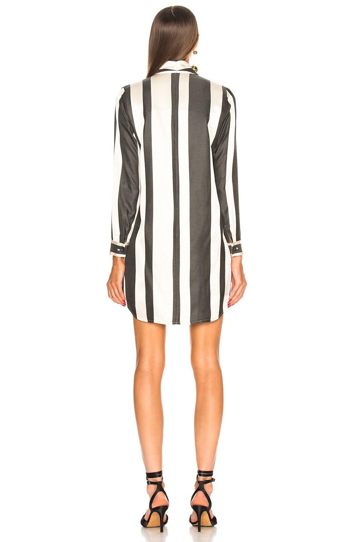 Image 4 of Michelle Mason Belted Dress Jacket in Black Stripe