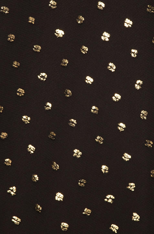 79067010e9c92 Image 5 of Michelle Mason Draped One Sleeve Mini Dress in Gold Dot