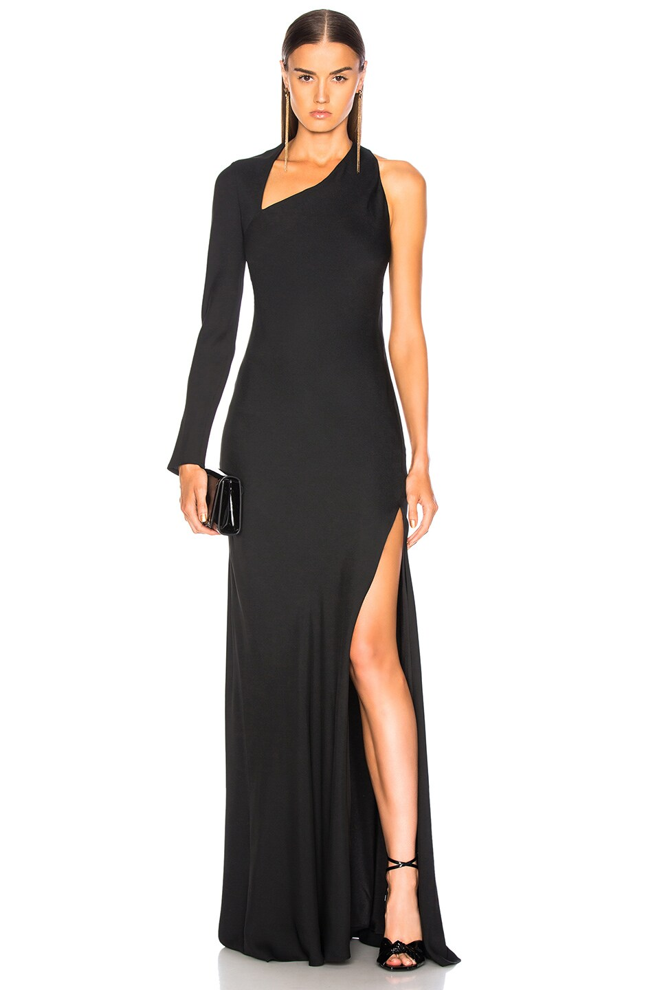 Image 1 of Michelle Mason Gown With Asymmetrical Back in Black