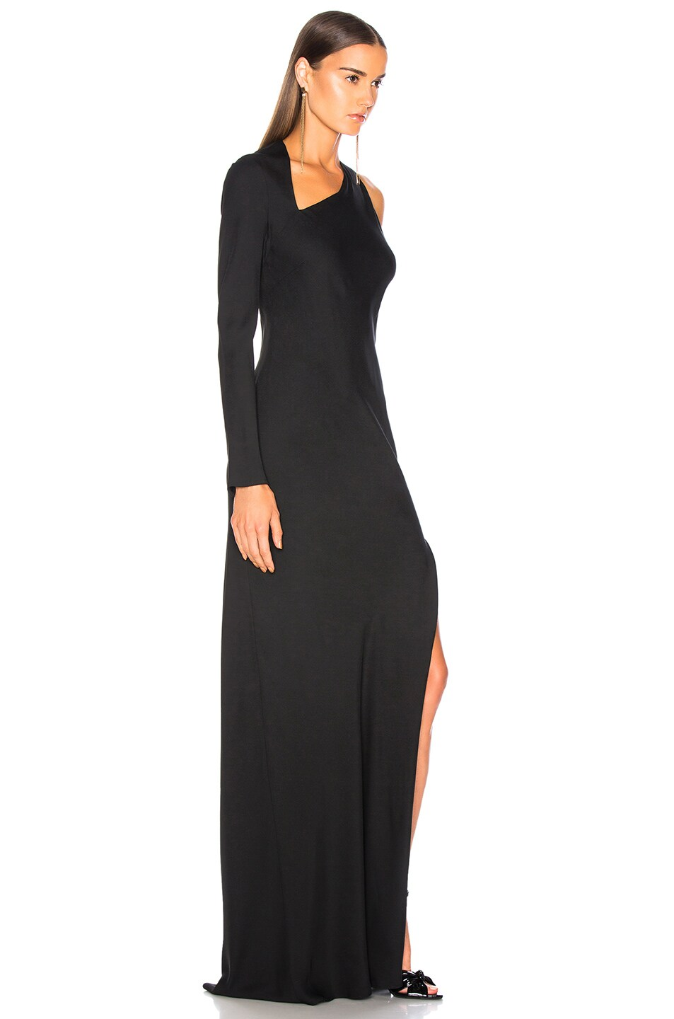 Image 2 of Michelle Mason Gown With Asymmetrical Back in Black