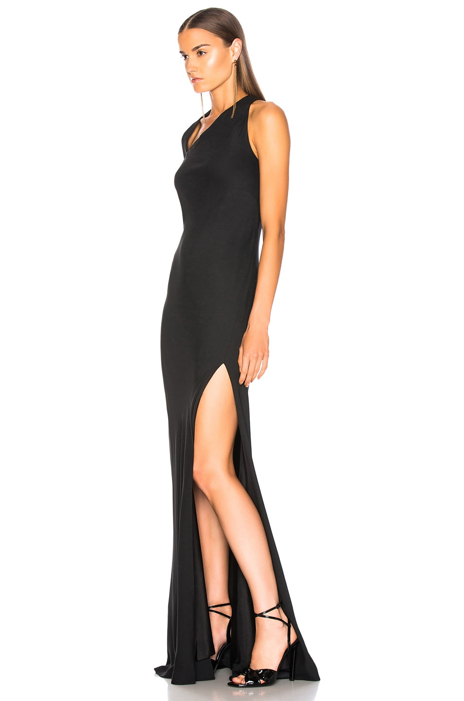 Image 3 of Michelle Mason Gown With Asymmetrical Back in Black