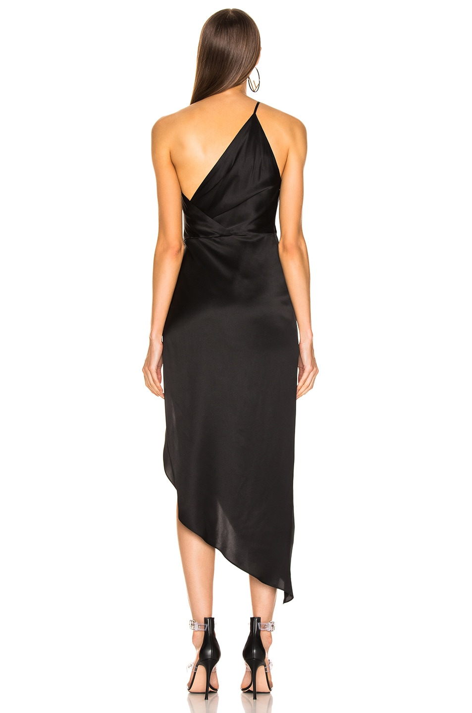 Image 4 of Michelle Mason for FWRD Twist Knot Midi Dress in Black