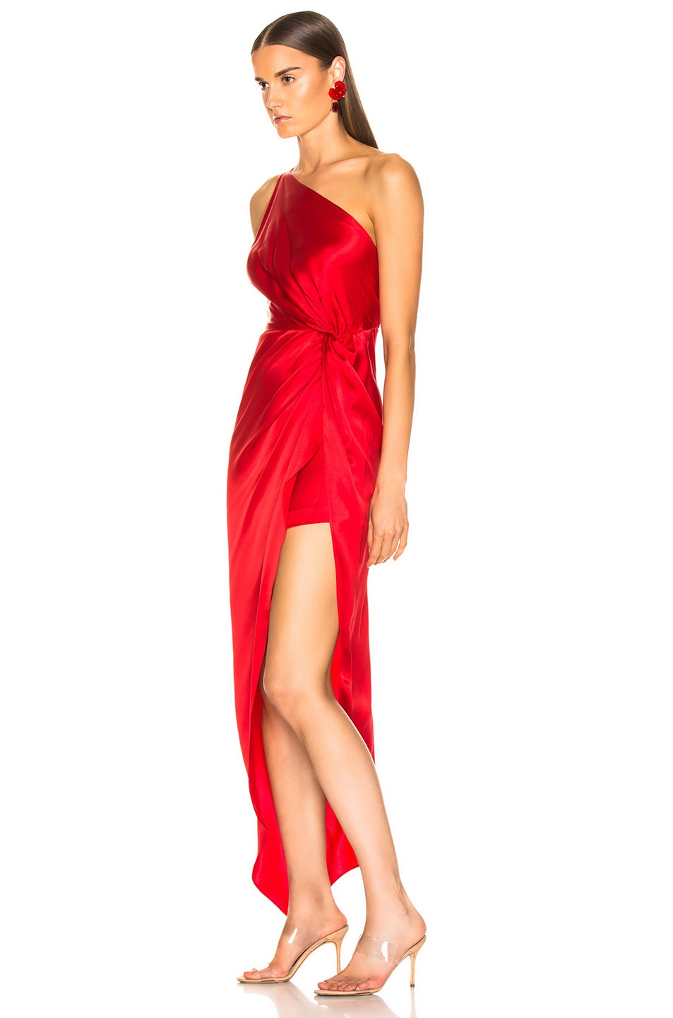 Image 3 of Michelle Mason for FWRD Twist Knot Gown in Red