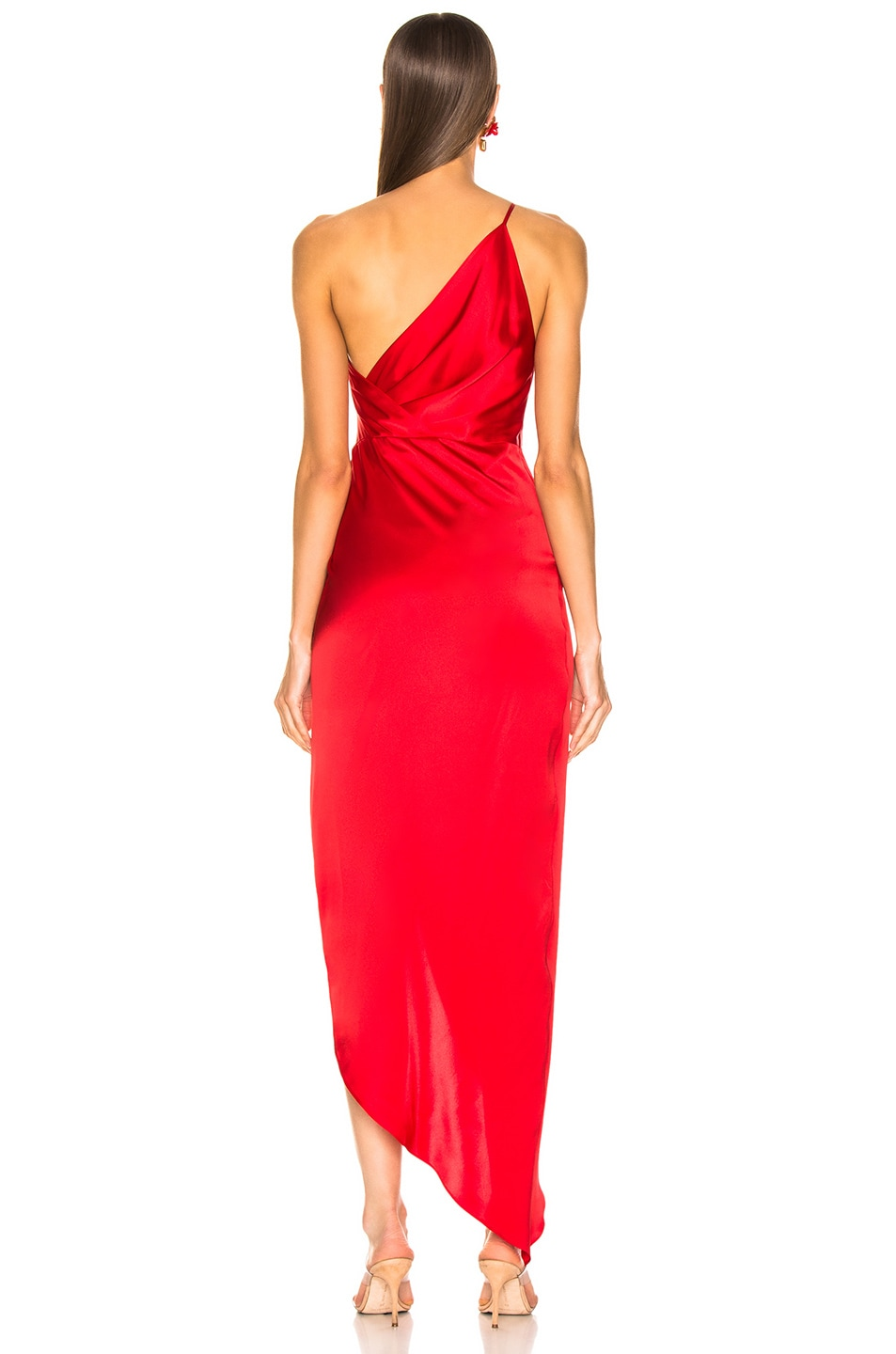 Image 4 of Michelle Mason for FWRD Twist Knot Gown in Red