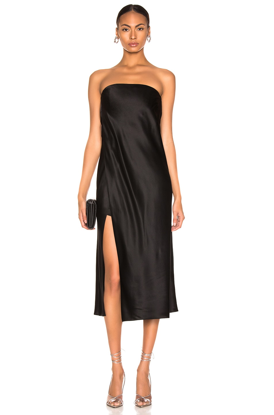 Image 1 of Michelle Mason Strapless Dress in Black