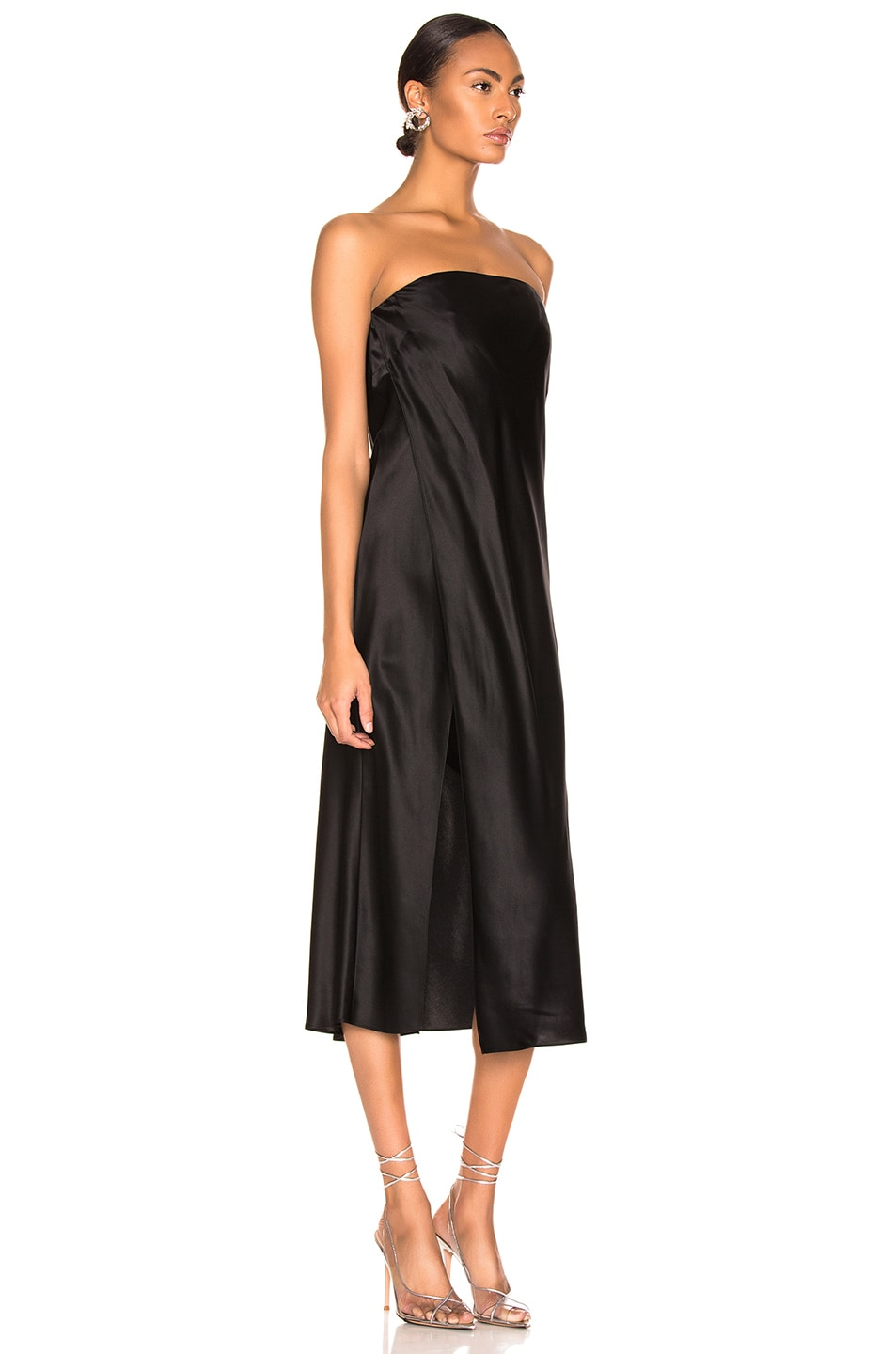 Image 2 of Michelle Mason Strapless Dress in Black