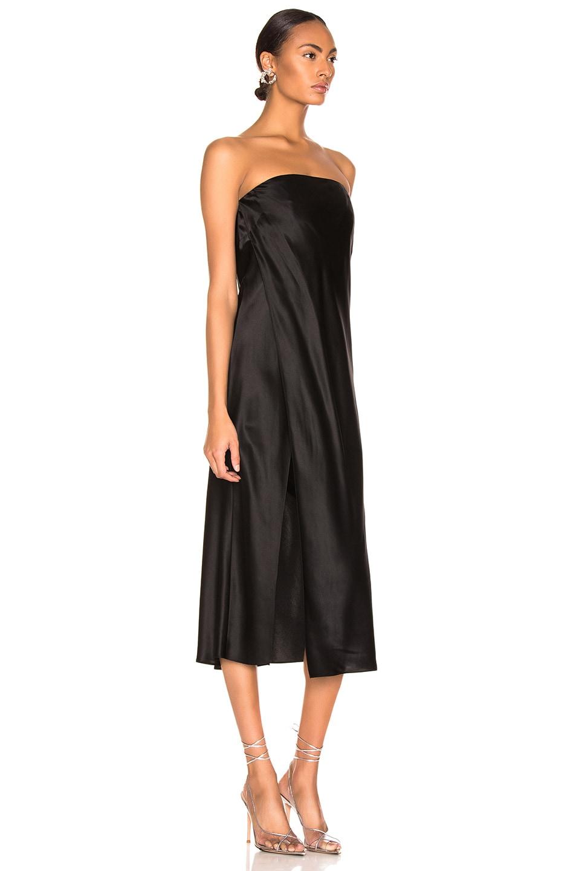 Image 2 of Michelle Mason Strapless Dress in Black