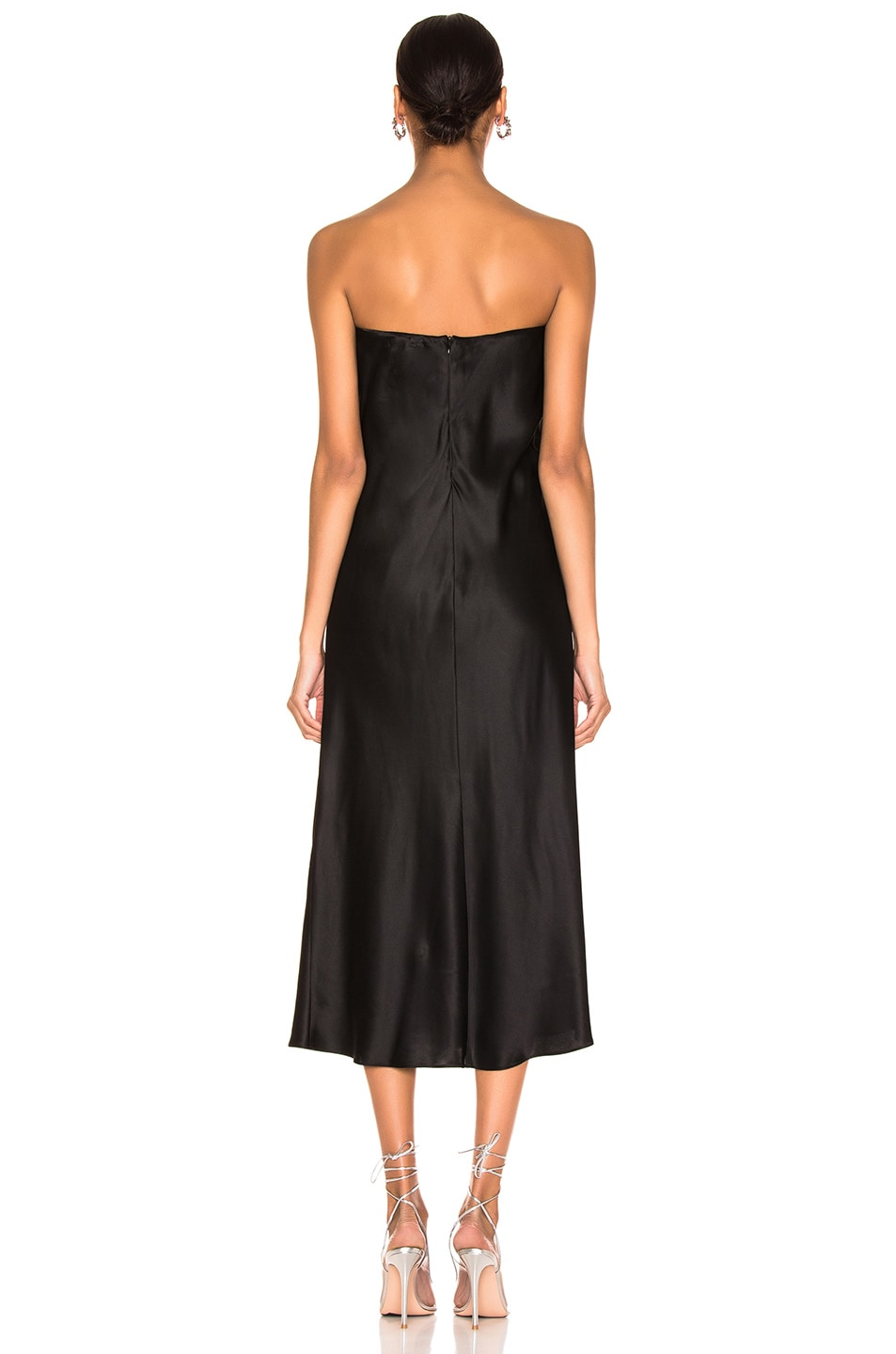 Image 3 of Michelle Mason Strapless Dress in Black