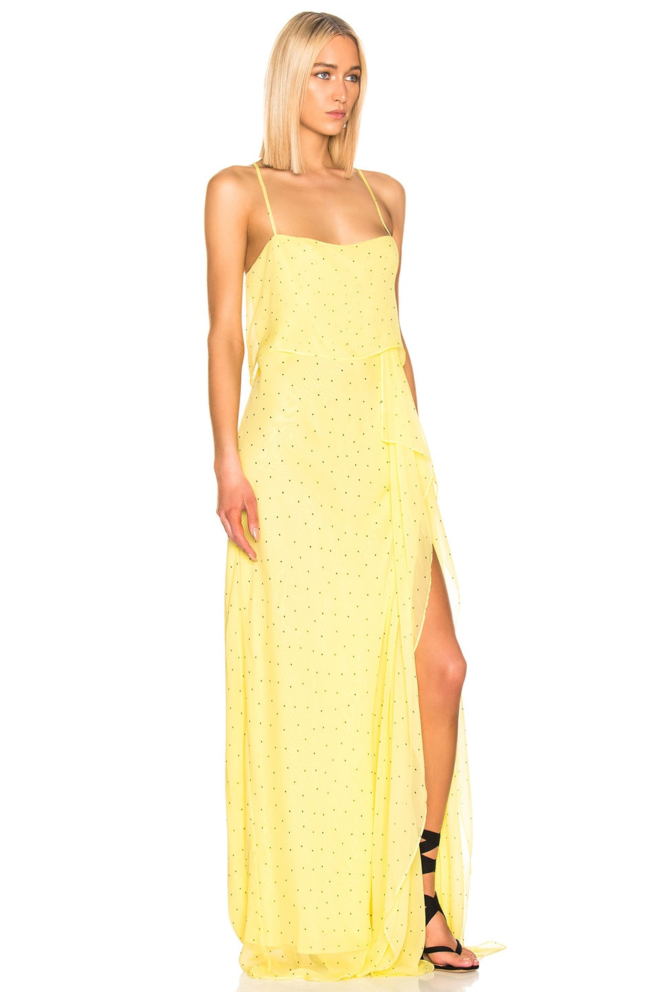 Image 2 of Michelle Mason Double Layer Gown in Lemon