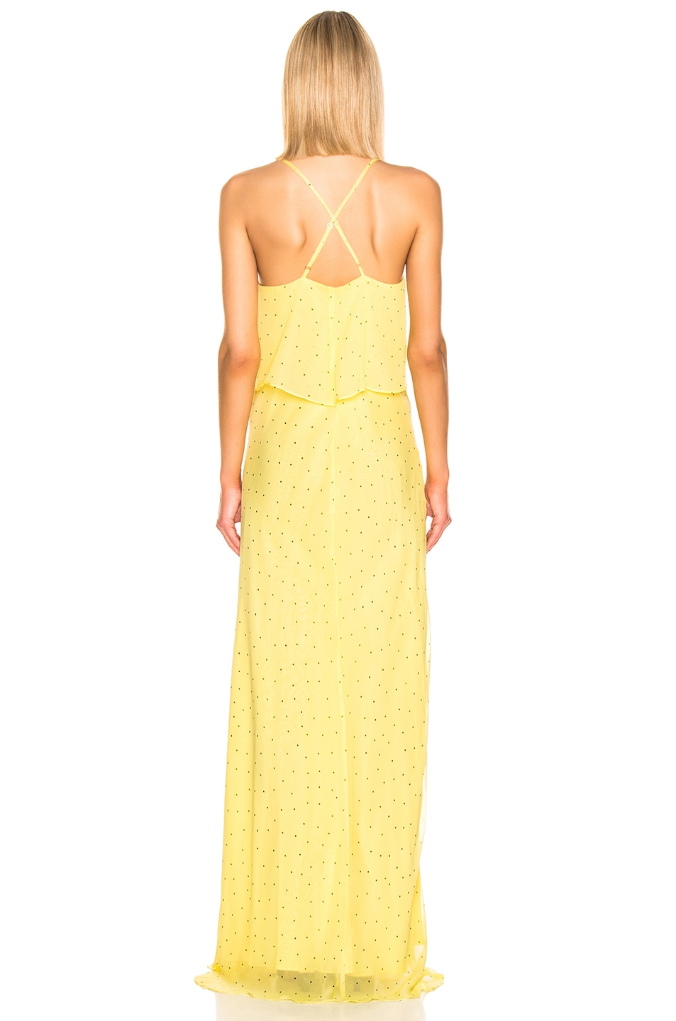 Image 3 of Michelle Mason Double Layer Gown in Lemon