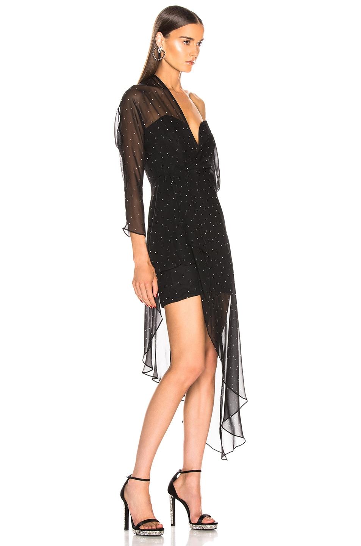 Image 2 of Michelle Mason Bustier Off Shoulder Dress in Black