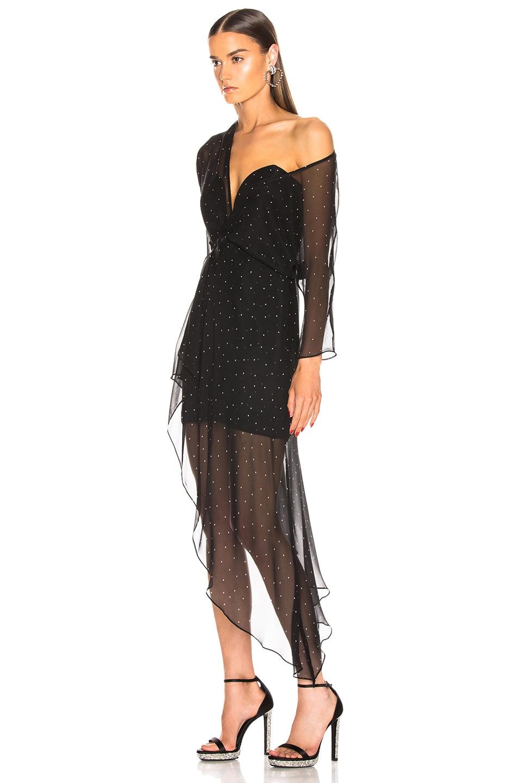Image 3 of Michelle Mason Bustier Off Shoulder Dress in Black
