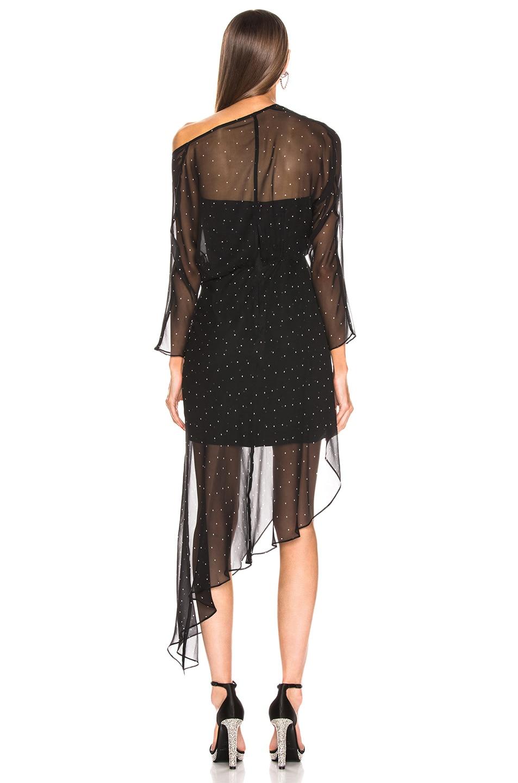 Image 4 of Michelle Mason Bustier Off Shoulder Dress in Black