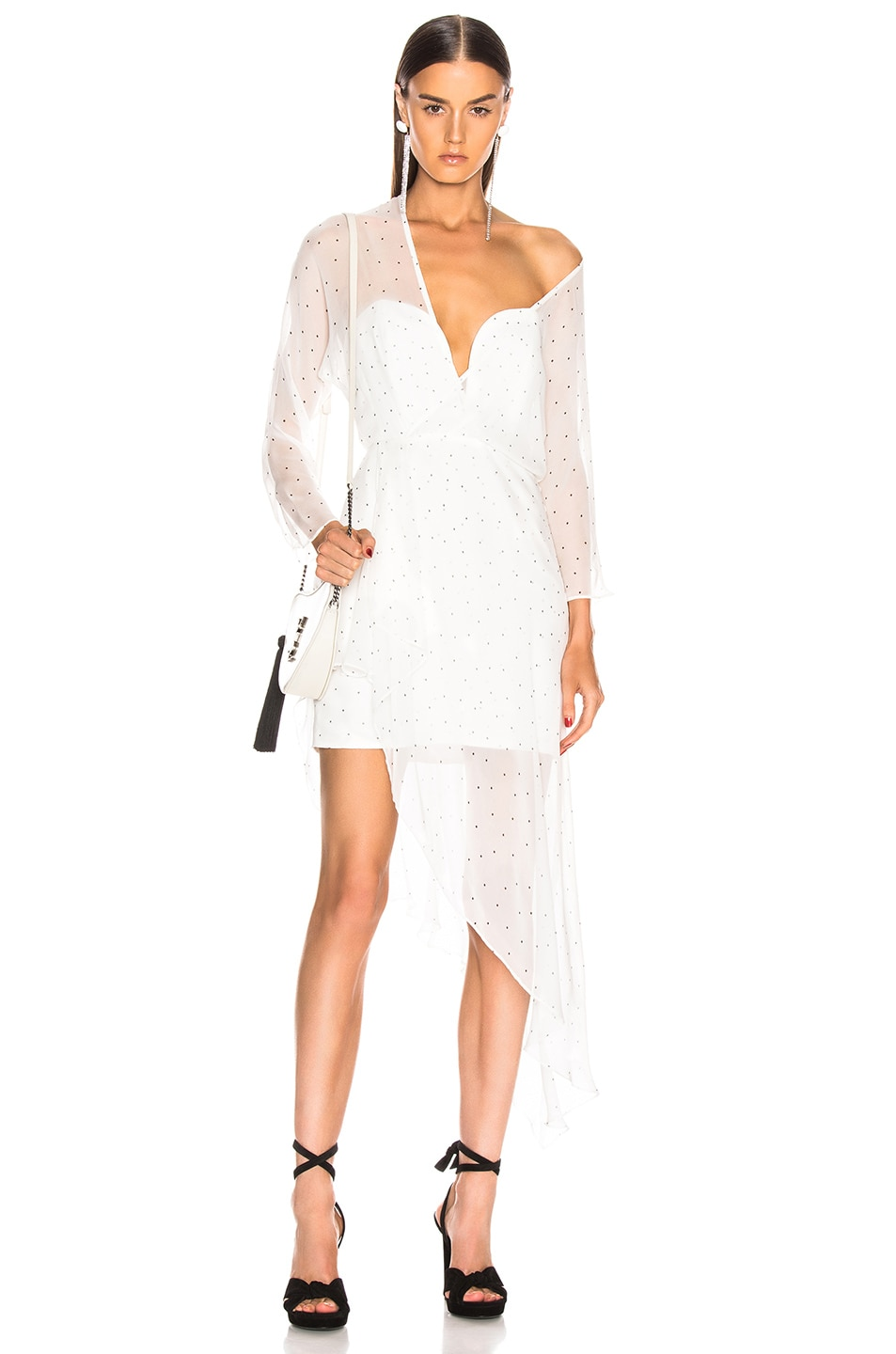 Image 1 of Michelle Mason Bustier Off Shoulder Dress in Ivory