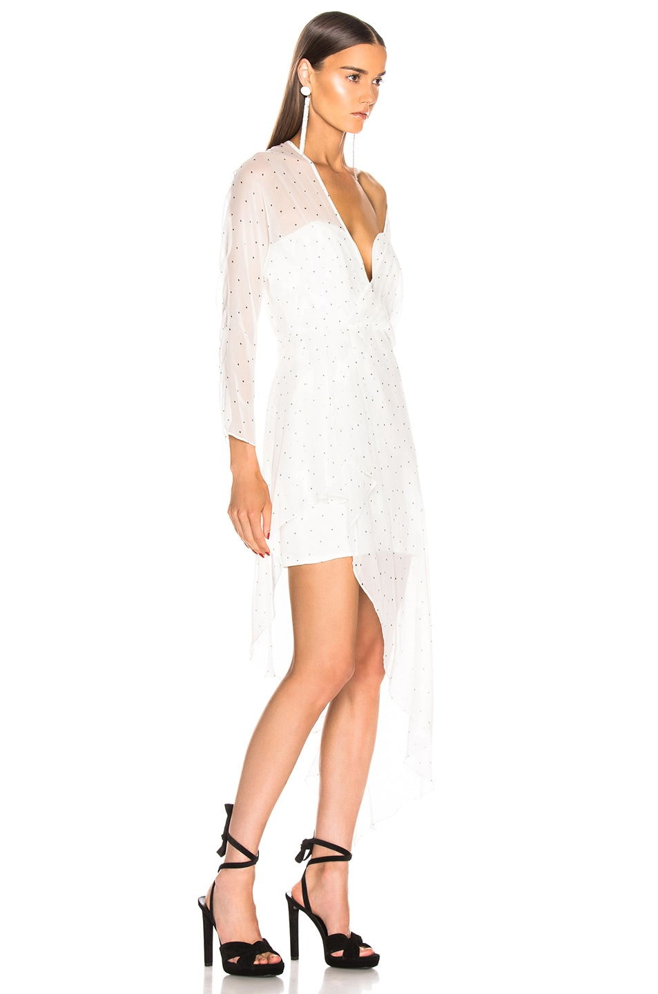 Image 2 of Michelle Mason Bustier Off Shoulder Dress in Ivory